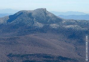 A frosted Camel's Hump in Vermont