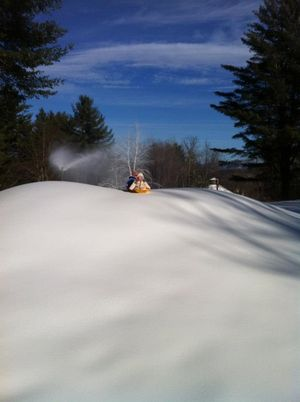 Snowmaking whale at Sleepy Hollow