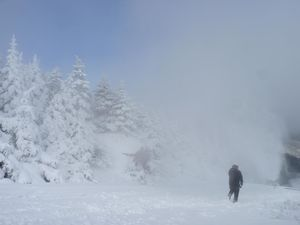 Making snow high atop Smugglers' Notch ski resort in Vermont