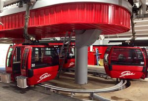 New gondola cabins at Stowe, Vermont
