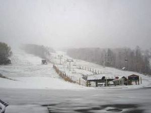 Stratton, VT, snow in October