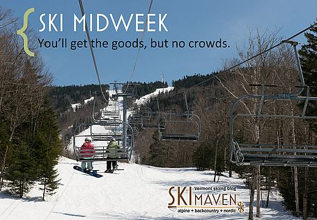 Tip: Ski midweek in Vermont