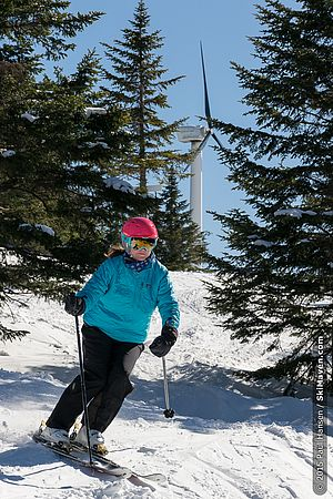 Skiing at Bolton Valley on April 1, 2015