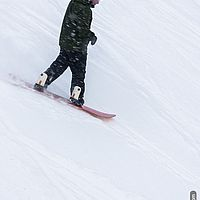 Snowflakes and snowboarding at Smugglers' Notch