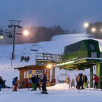 Night skiing at Bolton Valley Resort