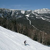 Spring skiing in Stowe, Vermont