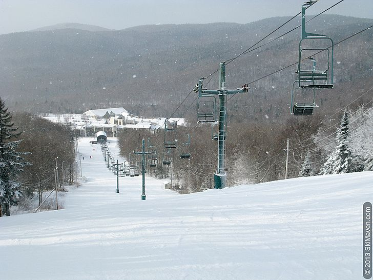Skiing Bolton Valley's Beech Seal trail