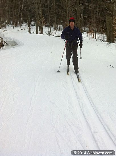 Skiing on Sugar Road
