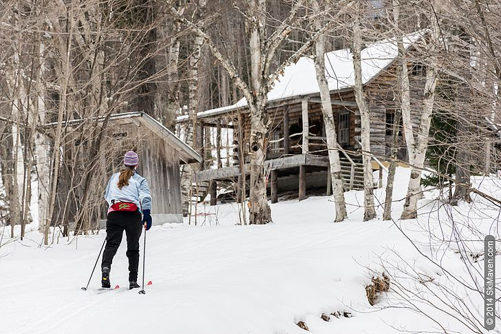 Skiing to the Cabin at Trapp Family Cross-Country Center