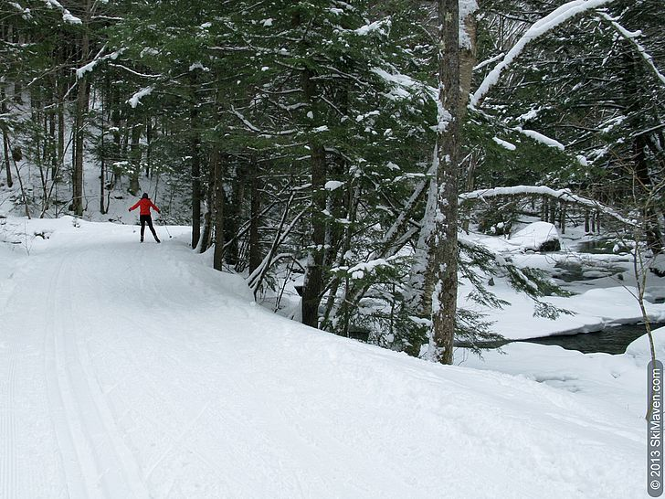 Brookside cross-country skiing at Stowe Mountain Resort