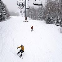 Powdery turns this afternoon and early evening at Bolton Valley.