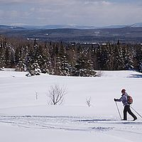Lovely meadows and high views from Highland Lodge, Vt.