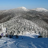 Skiing at Jay Peak Resort.