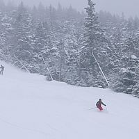 Skiing at Sugarbush, Vermont