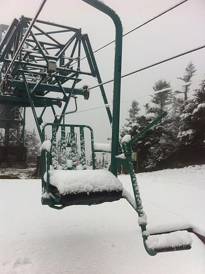 October snow at Mad River Glen, Vermont