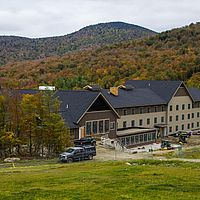 New base lodge at Jay Peak ski resort in Vermont