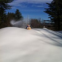 Snowmaking at Sleepy Hollow cross-country center