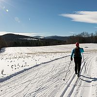 Cross-country skiing at Ole's nordic center