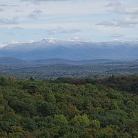 Snow on Vermont's Mt. Mansfield