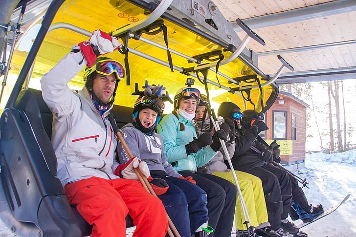 First chair for 2017 - 2018 ski season at Mount Snow, Vermont