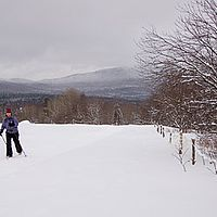 Learn to cross-country ski or snowshoe in Vermont