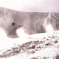 Snowguns are blasting in Vermont so that ski resorts can open this weekend.