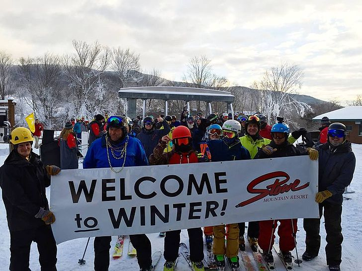 2015 Opening day at Stowe, Vermont