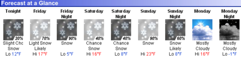 Snow forecasted for northern Vermont