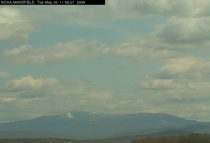 Mt. Mansfield is sporting a bit of a white coat today.