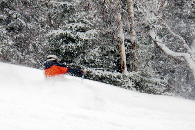 New snow in northern Vermont, including Jay Peak