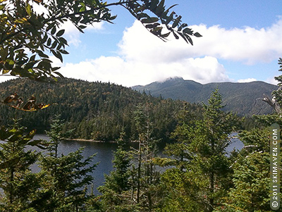 View of Sterling Pond and Mt. Mansfield.