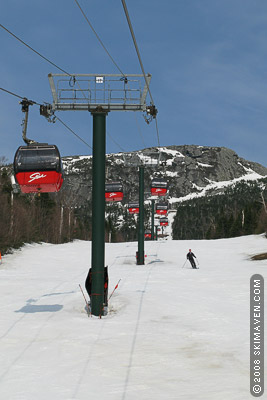 The gondola at Stowe, Vermont