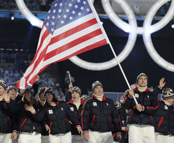 Team USA at the Olympic Opening Ceremonies